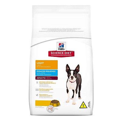 Ração Hill´s Cães Adultos Light Pedaços Pequenos (3kg e 7,5kg)