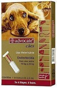 Advocate Cães 10 à 25kg
