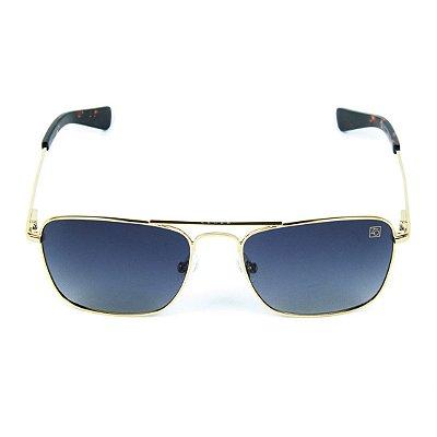 Óculos de Sol Polarizado Banhado a Ouro Zabô Lensk lente Preta