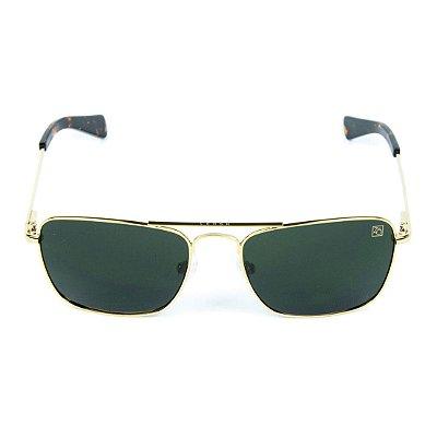 Óculos de Sol Polarizado Banhado a Ouro Zabô Lensk lente Verde