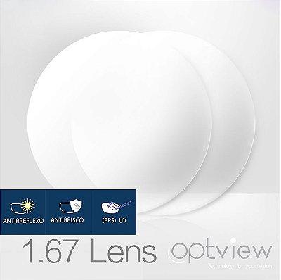 Lentes Digitais Optiview - Alto Índice 1.67 + Fastkot SH