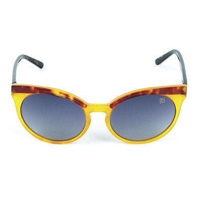 Óculos de Sol Polarizado Zabô Viena Tartaruga lente Preta