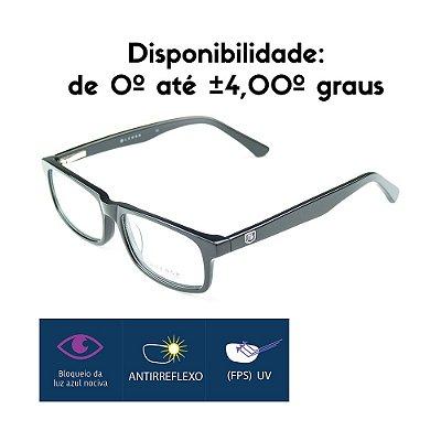 Óculos Gamer - Armação + Lente proteção Luz Azul Optview