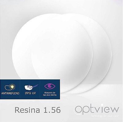 Lentes Optview - Resina Acrílica + Anti-reflexo +Blue Control