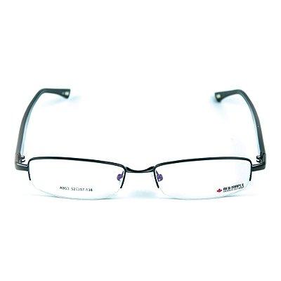 Armação para óculos de grau em Acetato Red Maple Preto