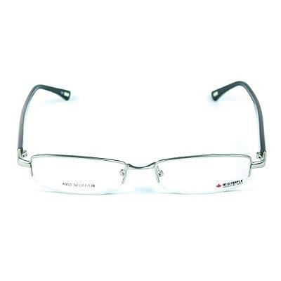 Armação para óculos de grau em Acetato Red Maple Prata