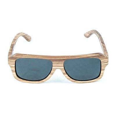 Óculos de Sol Polarizado em Madeira Zebrano Omsk