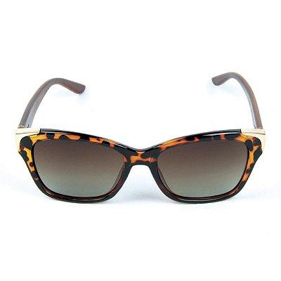 Óculos de Sol Polarizado Zabô Barcelona Tartaruga lente Marrom