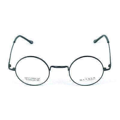 Armação para óculos de grau em Titânio Hogwarts Preto