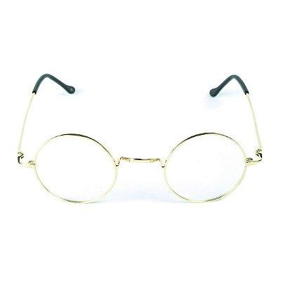 Armação para óculos de grau em Titânio Hogwarts Dourado