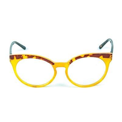 Armação para óculos de grau Zabo Viena Tartaruga Grau