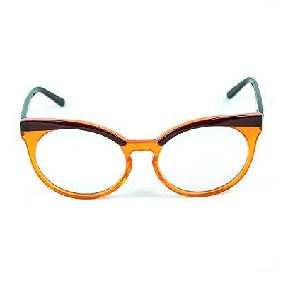 Armação para óculos de grau Zabo Viena Marrom Grau