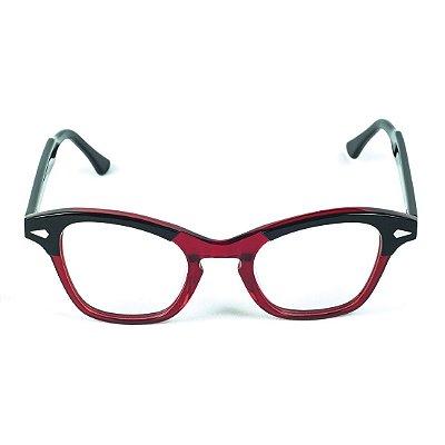 Armação para óculos de grau Lensk Milão Vermelho Grau