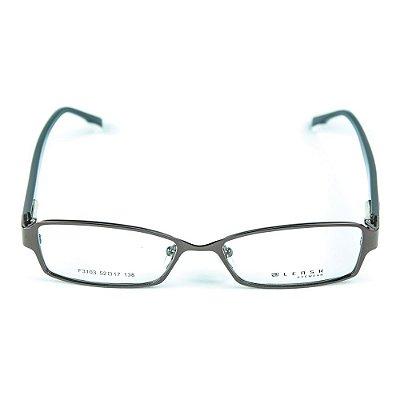 Armação para óculos de grau em metal Lensk F3103 Marrom