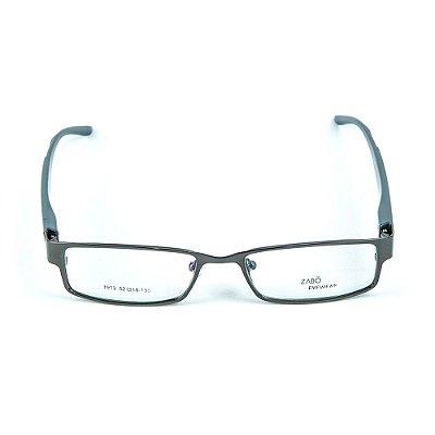 Armação para óculos de grau em metal Zabô Cuzco Chumbo