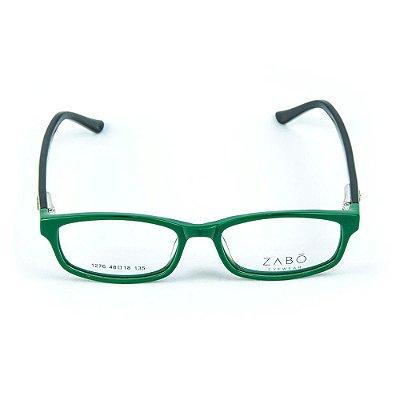 Armação para óculos de grau em Acetato Zabo Gibraltar Verde