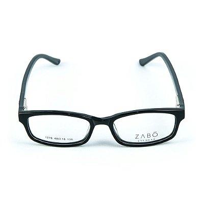 Armação para óculos de grau em Acetato Zabo Gibraltar Preto