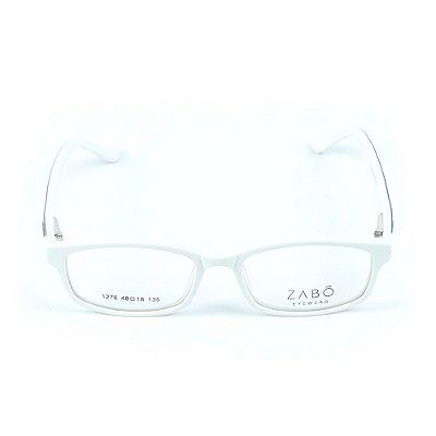 Armação para óculos de grau em Acetato Zabo Gibraltar Branco