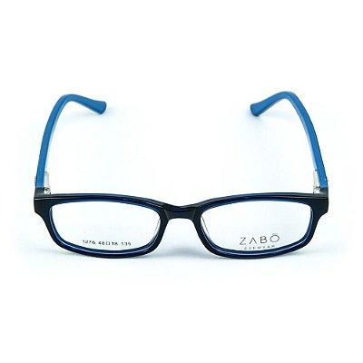 Armação para óculos de grau em Acetato Zabo Gibraltar Azul