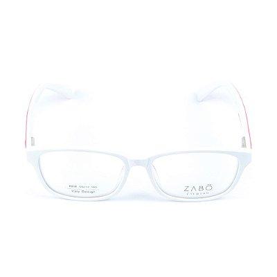 Armação para óculos de grau em Acetato Zabo Helsinque Branco