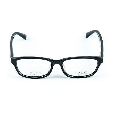 Armação para Óculos de Grau em Acetato Zabo Helsinque Preto