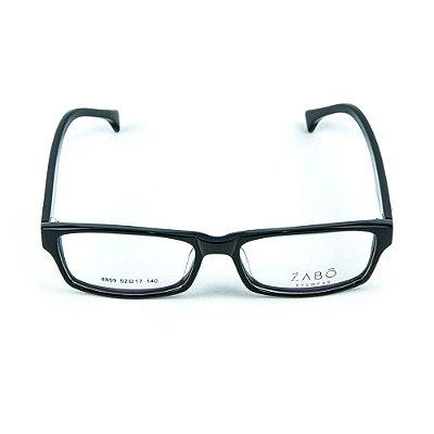 Armação para Óculos de Grau em Acetato Zabo Minsk Preto