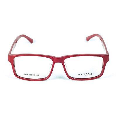 Armação para óculos de grau em Acetato Lensk 8008 Vermelho