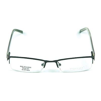 Armação para óculos de grau em metal Pacini Preto