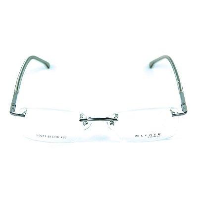 Armação para óculos de grau em metal Lensk 5011 Chumbo