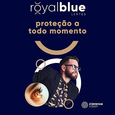 Par de Lente Royal Blue com AR + Filtro de Luz Azul-Violeta