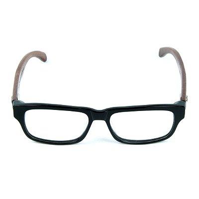 6517befb1 Armação para Óculos de Grau Zabô Joanesburgo Preto