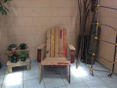 Cadeira espreguiçadeira de palete long life