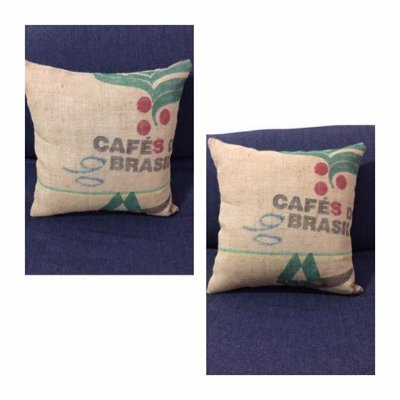 Almofadas 45x45 saca de café juta para locação