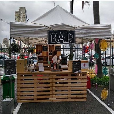 Bar de pallets para eventos ao ar livre / pic nic - somente locação