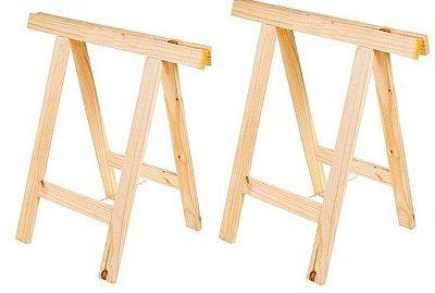 Par de cavalete simple de pinus- venda e locação