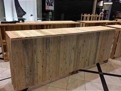 Balcão bar ripas fechadas - somente locação