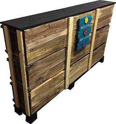 Balcão de caixotes para lojas, restaurantes, pub, bares - somente venda