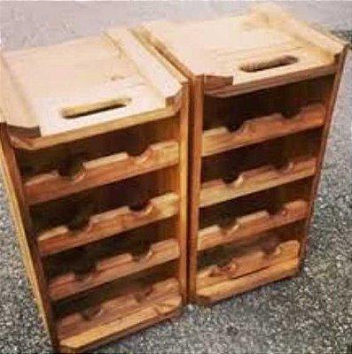 adega caixote para 8 garrafas de vinho