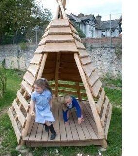 Casinha infantil de palete Apache