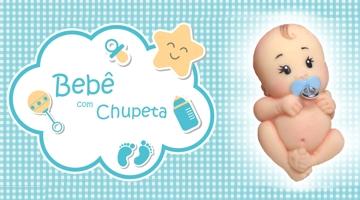 Bebe com Chupeta mini