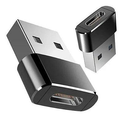 Adaptador Plug USB MACHO Para USB C Femea  USB Tipo C