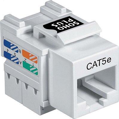 Conector Fêmea Keystone Rj45 Cat5e Branco Soho Plus Furukawa