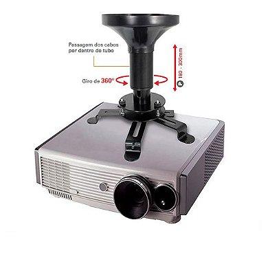 Suporte para Projetor de Teto com regulagem altura de 180 a 300mm - Multivisão Multiprojetor P