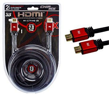 CABO HDMI 2 METROS 2.0 ETHERNET 3D 4K ULTRAHD COM FILTRO CHIPSCE PIX 0180220
