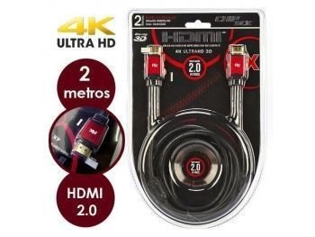CABO HDMI 2 METROS 2.0 ETHERNET 3D 4K ULTRAHD C/FILTRO CHIPSCE PIX 0180220