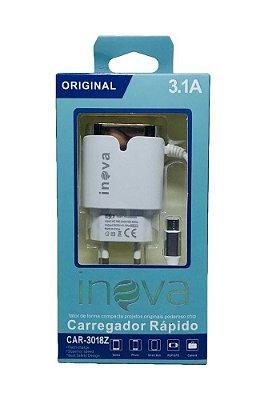 CARREGADOR 3.1A CAR-3018Z Plug V8 - INOVA