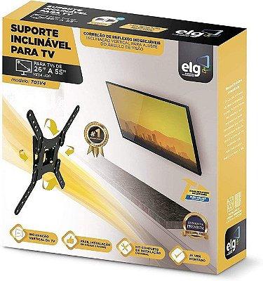 Suporte Articulado Para Tv e monitor  de 26'' até 55'' ELG  TO3V4 vesa 100x100 ,200x200 ,300x300 e 400x400 mm