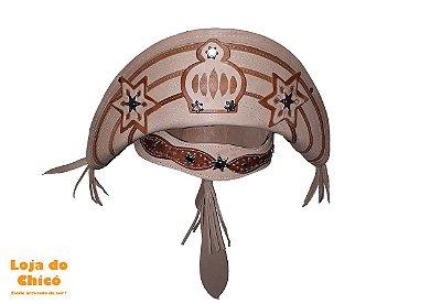Chapéu de Cangaceiro de Couro - Lampião/Luiz Gonzaga