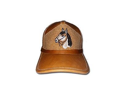 Boné de Couro - Cavalo Bento