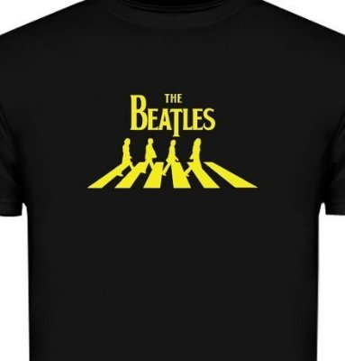 ST102 - Camiseta - Estampa The Beatles em Recorte a Laser